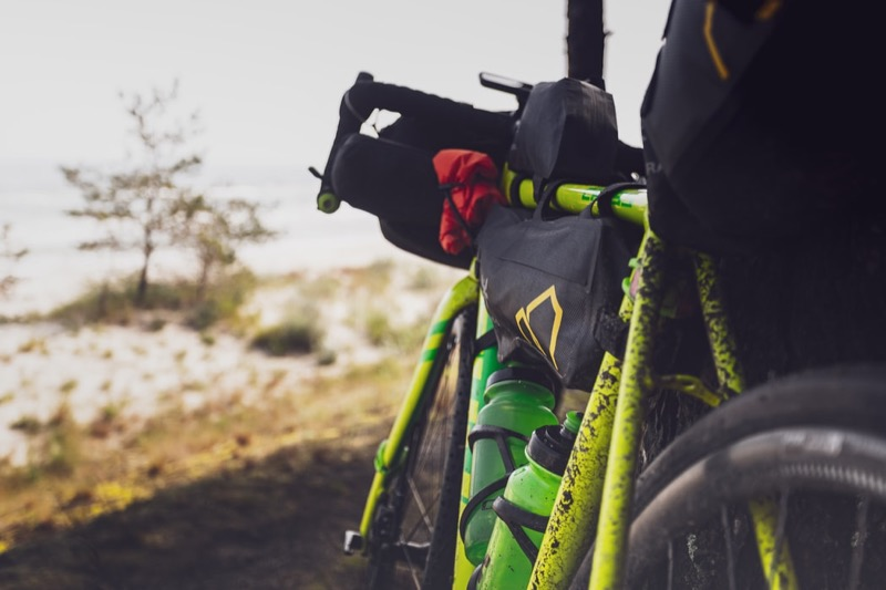 Apidura bags on dirty bike