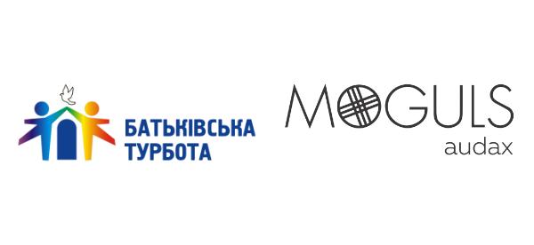 Batkivska Turbota & Moguls Audax logos